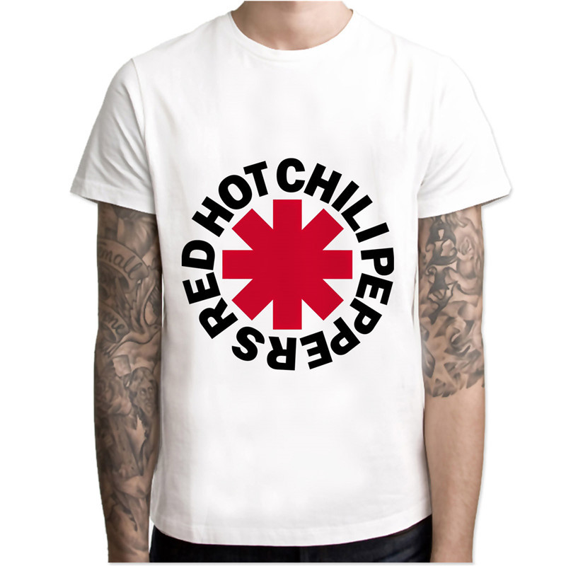 d1beab01f Red Hot Chili T Shirt Peppers Men Cartoon Cool Funny White T Shirts White  Tshirt Men