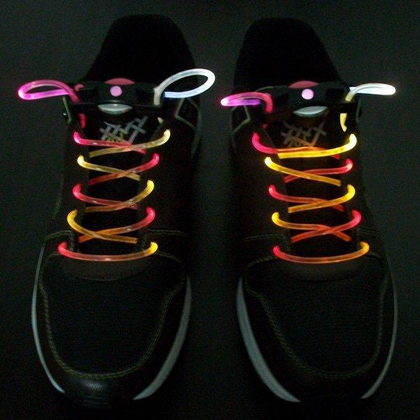 Wholesale Fashion colorful led flashing shoelace, led shoelaces,Laser Shoelaces party shoelace christmas gift 300pcs/lot