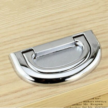 64mm modern simple fashion plane unfold install handle 2.5″ shiny silver chrome drawer cabinet dresser cupboard door pulls knobs
