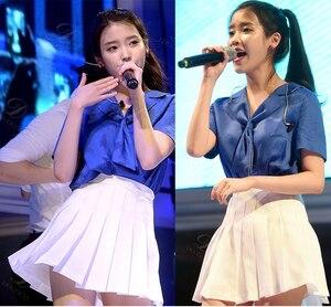 Image 2 - 女性のスカートレディースかわいい夏ショートカレッジ風の学生プリーツスカート女性韓国原宿夏の服