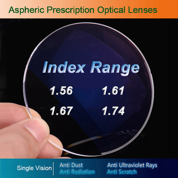 Single Vision Optical Glasses Prescription Lenses for Myopia/Hyperopia/Presbyopia Eyeglasses CR-39 Resin Lens With Coating 1 74 index anti blue ray prescription optical eyeglasses spectacles lenses rx able lenses free assembly with glasses frame