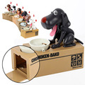 New Puppy Hungry Eating Dog Coin Bank Money Boxes Piggy Bank Children's Toys Decor Children's Gift My Dog Ate My Allowance