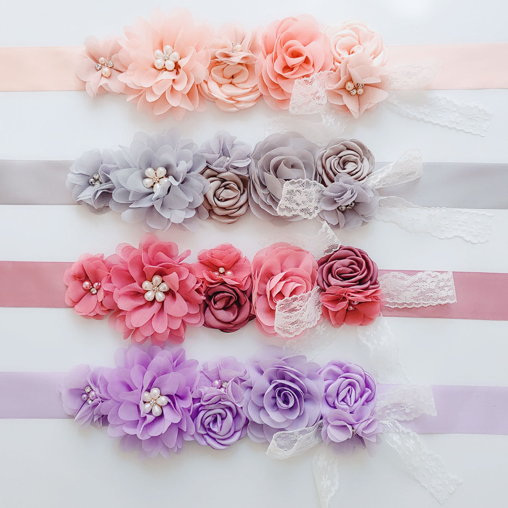 AYiCuthia Womens Elegant Fashion Flower Belt Girl Woman Sash Belt Wedding Sashes Belt Y29