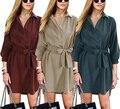 2016 Осень Плюс Размер Повседневная Женщины Пальто и Куртки Шнурок Три Четверти Puff Рукавом Длинные Пальто для Женщин LBBG8313-0919