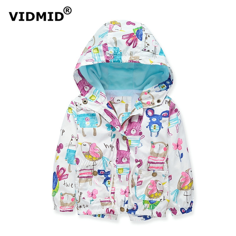 VIDMID baby girls jacket casual hooded outerwear girls coat