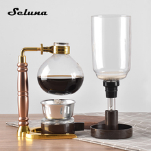 3 Cups Glass Vacuum Syphon Coffee Maker Machine Coffee Siphon Brewer Brewing Pot Filter Bottle Technica 5 TCA-3 with Spoon Brush 2016 real cafeteras nespresso steam pod royal belgium balancing siphon gold coffee maker machine 450 ml vacuum syphon f 191
