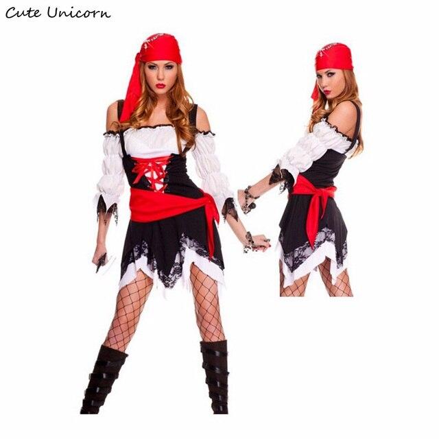Kostuums Dames.Us 19 93 23 Off Vrouwen Sexy Piraat Cosplay Kostuum Halloween Party Kostuums Dames Rollenspel Volwassen Meisjes Kleren Caribbean Warrior Fancy Dress