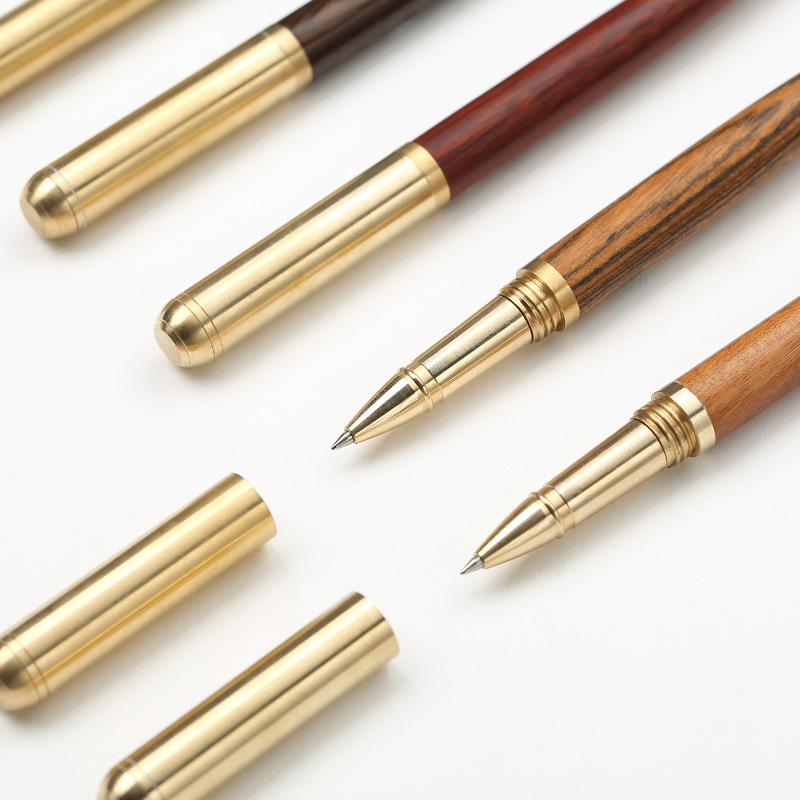 Luxury Wood Brass ballpoint pen Metal black ink ball pens office pens Stationery School supplies Canetas escolar 2002 free shipping 36 60pcs blue ballpoint pen clicked school students stationery office accessories supplies boligrafos canetas pens