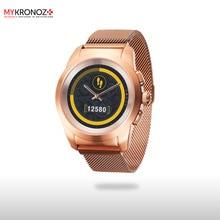 Смарт часы гибридные ZeTime Elite Petite миланский сетчатый браслет цвет матовое розовое золото