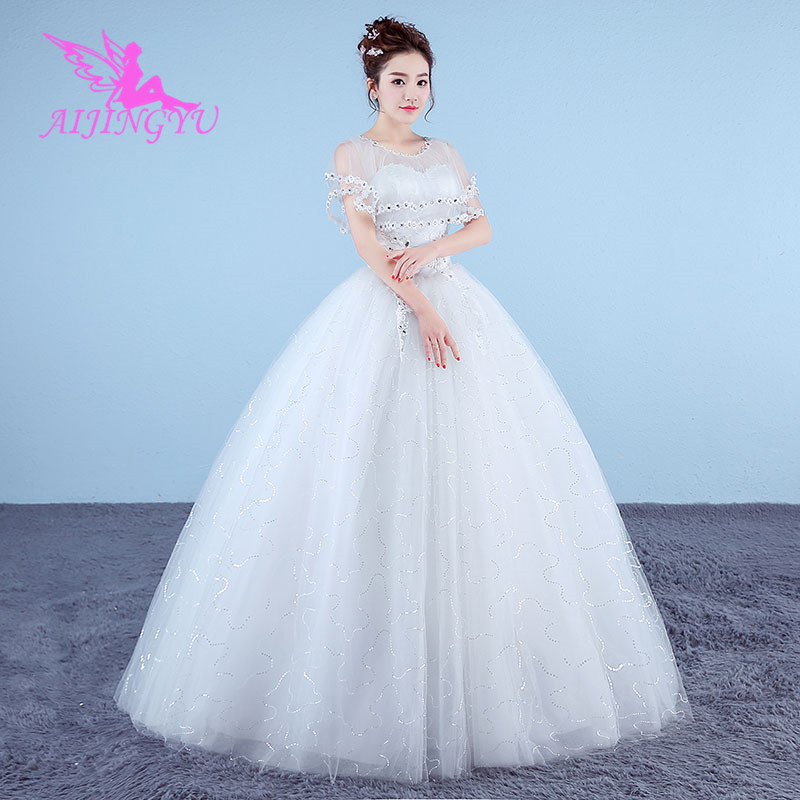 AIJINGYU 2018 sweet free shipping new hot selling cheap ball gown lace up back formal bride