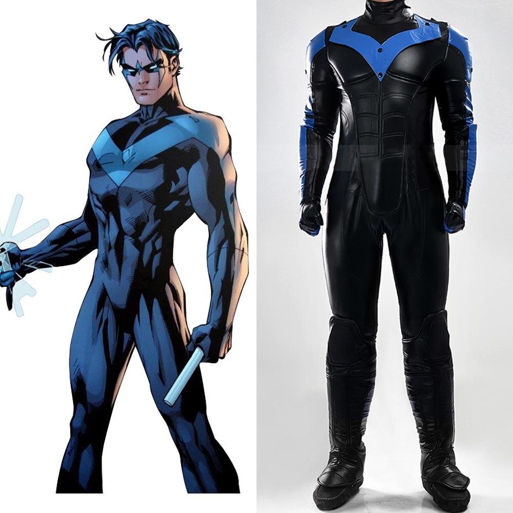 Batman Arkham City Косплэй костюм Nightwing комбинезон глаз патч Прихватки для мангала Леггинсы для женщин супергерой Хэллоуин для взрослых Для мужчин