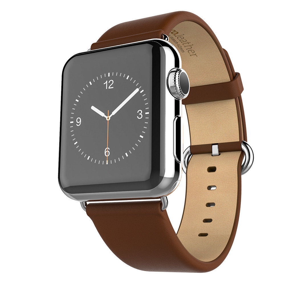Image 2 - HOCO New Genuine Leather Band For Apple Watch 4 2 1 First Layer Leather Strap Compatible With Apple Watch 44MM 40MM 42MM 38MM-in Watchbands from Watches