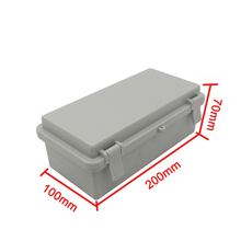 Plastic Waterproof Cover Project Electronic Instrument Case Enclosure Case 100*200*70mm