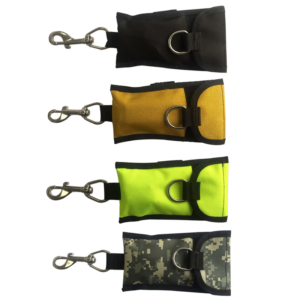 Scuba Diving Single Reef Drift Hook Webbing Bolt Clip & Storage Bag Scuba Cave Diving Current Bolt Snap Single Hook