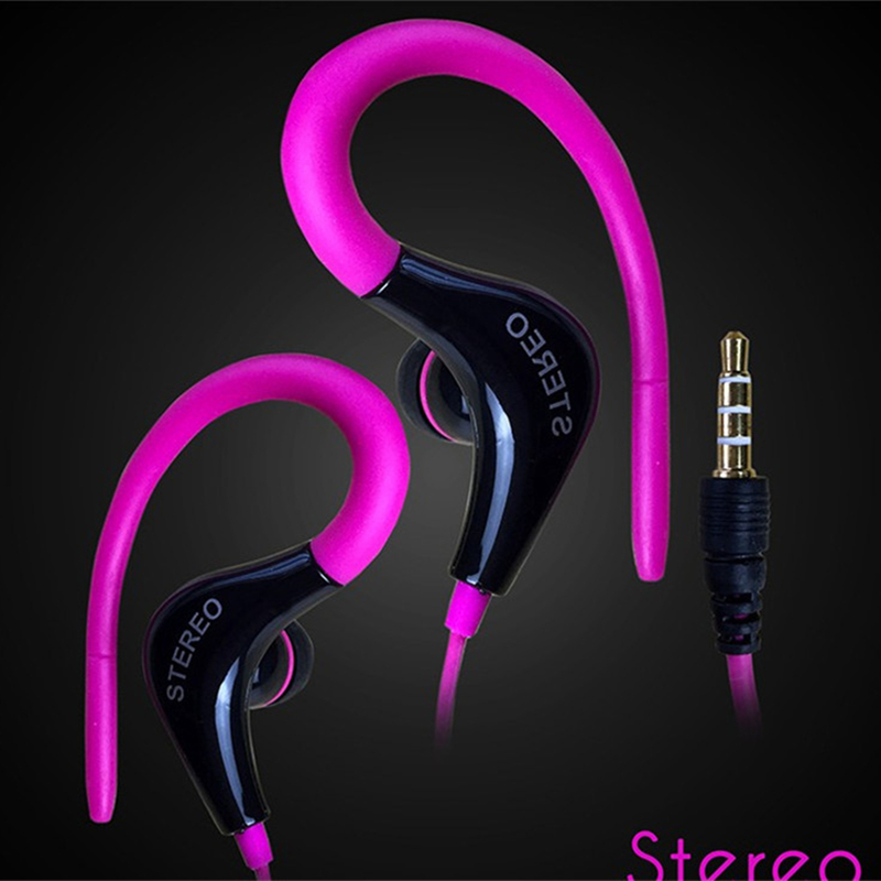 Sports Earphone Running Headphone With No Microphone 3.5mm In-Ear Stereo Earbuds Headset For Computer Cell Phone MP3 Music image