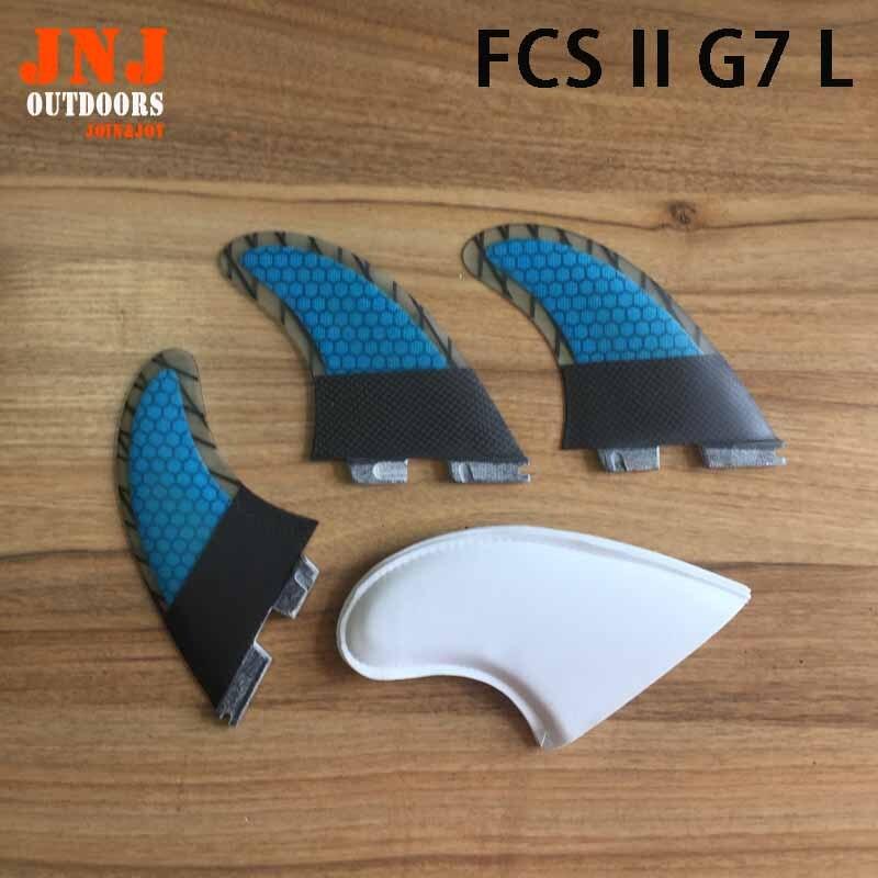 FREE SHIPPING fiberglass with Carbon fiber FCS II L G7 surf fins Tri set G7 FCS