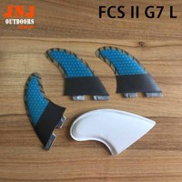 FREE SHIPPING Fiberglass With Carbon Fiber FCS II L G7 Fins Tri Set G7 FCS 2