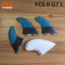 FREE SHIPPING fiberglass with Carbon fiber  FCS II L G7 surf fins Tri-set G7 FCS 2 L fin