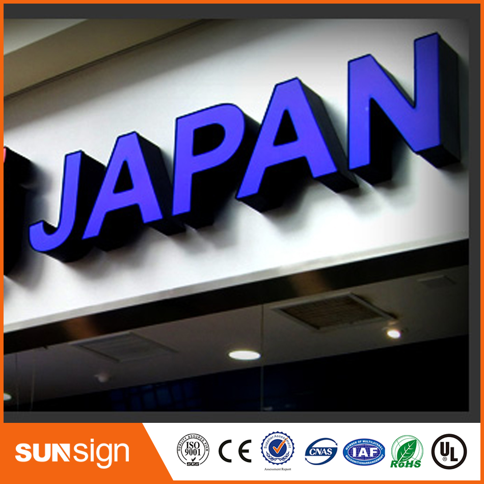 Stainless Steel Acrylic Lighting Up 3d Led Letter Sign
