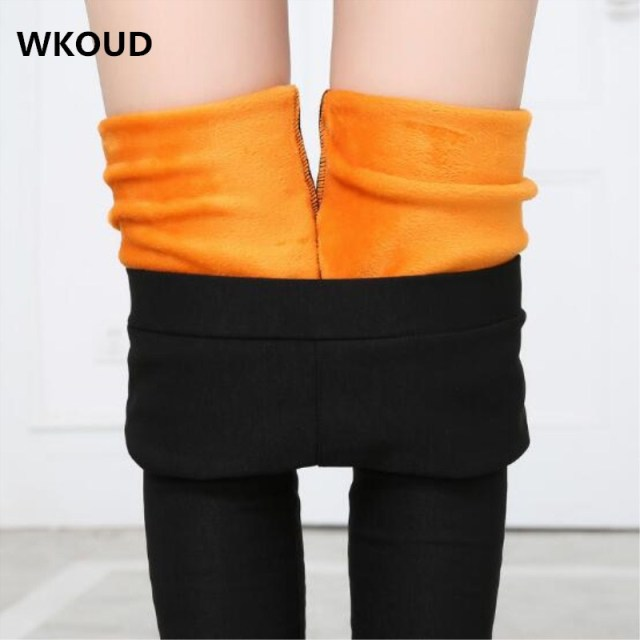 High Waist Leggings For Women Winter Warm Skinny Trousers Black Thickening Pencil Pants Students Snow Casual Wear P8542
