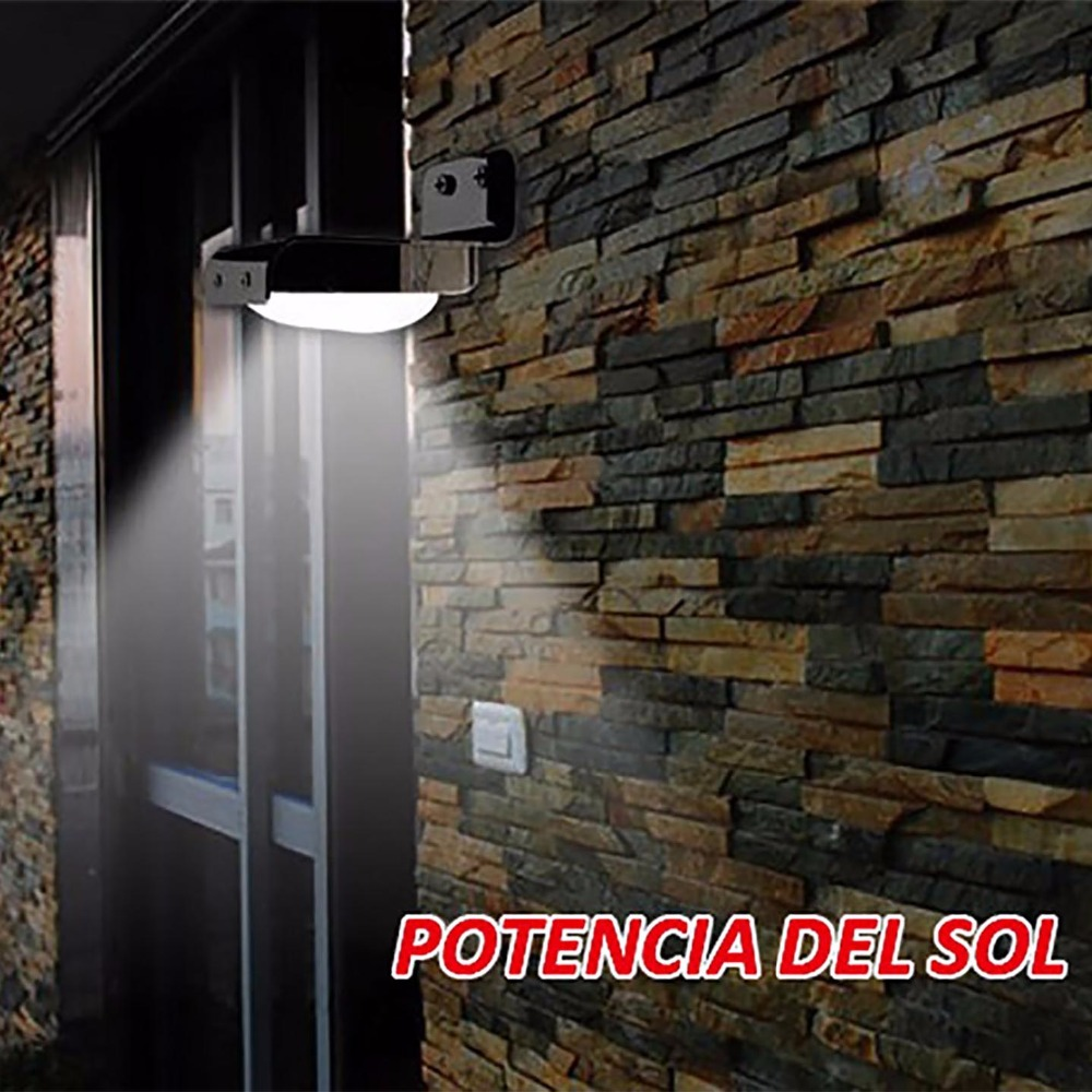 luminaria de pared lampara solar de 16 led con senor de