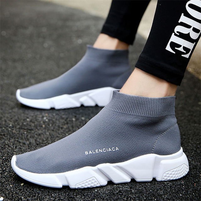 2018 Brand Breathable sport athletic Running Shoe for Men unisex breathable Mesh female sock Sneakers Outdoors Jogging trainers