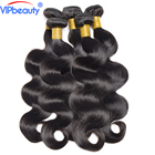 VIP beauty Peruvian body wave 100% human hair weave 4 bundles 10-28inch non remy hair extension natural color 1b