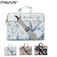 MOSISO 13 3 15 6 Inch Canvas Marble Laptop Shoulder Bag Case For Macbook Pro Air