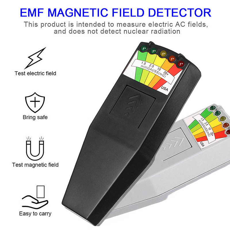 EMF Meter Magnetic Field Detector with 9V Batteries Ghost Hunting Paranormal Equipment New M25