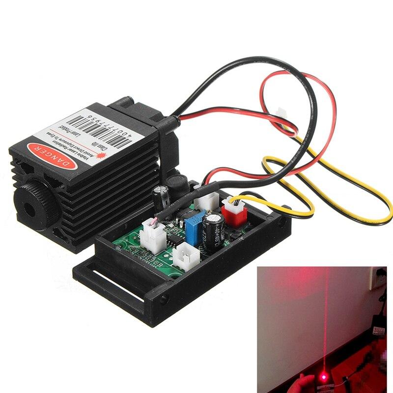 Focusable 500 mw 808nm Infrarouge IR Laser Diode Dot Module 12 V + TTL + Ventilateur De Refroidissement Laser Module Pour CNC Machine De Gravure