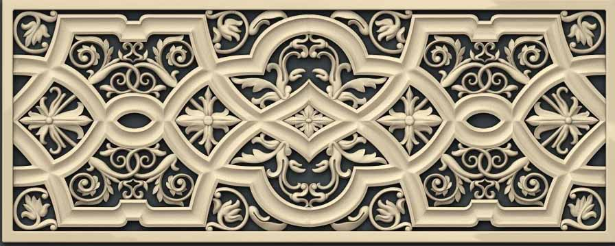 Decorative Frame Furniture Part Decoration 3D Model STL Relief CNC Carving Engraving Artcam Aspire P10