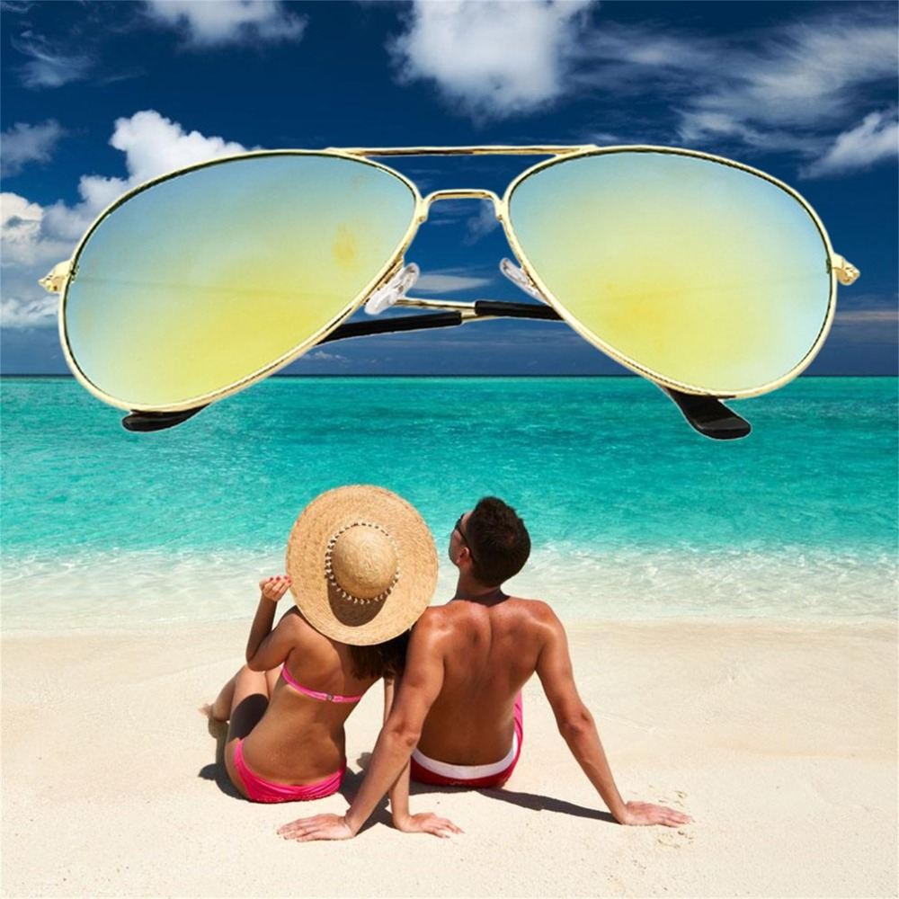 1pcs 9colors UV Protection Glasses Classic Men Women Goggles Fashion Reflective Sunglasses Hot Selling rimless sunglasses ultra light crystal diamond glasses myopia sunglasses women can be customized bright reflective polarizer
