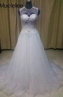 Vestidos De Noiva 2017 Pearl Beading Boho Wedding Dress 2017 Bridal Gown See Through Back Robe