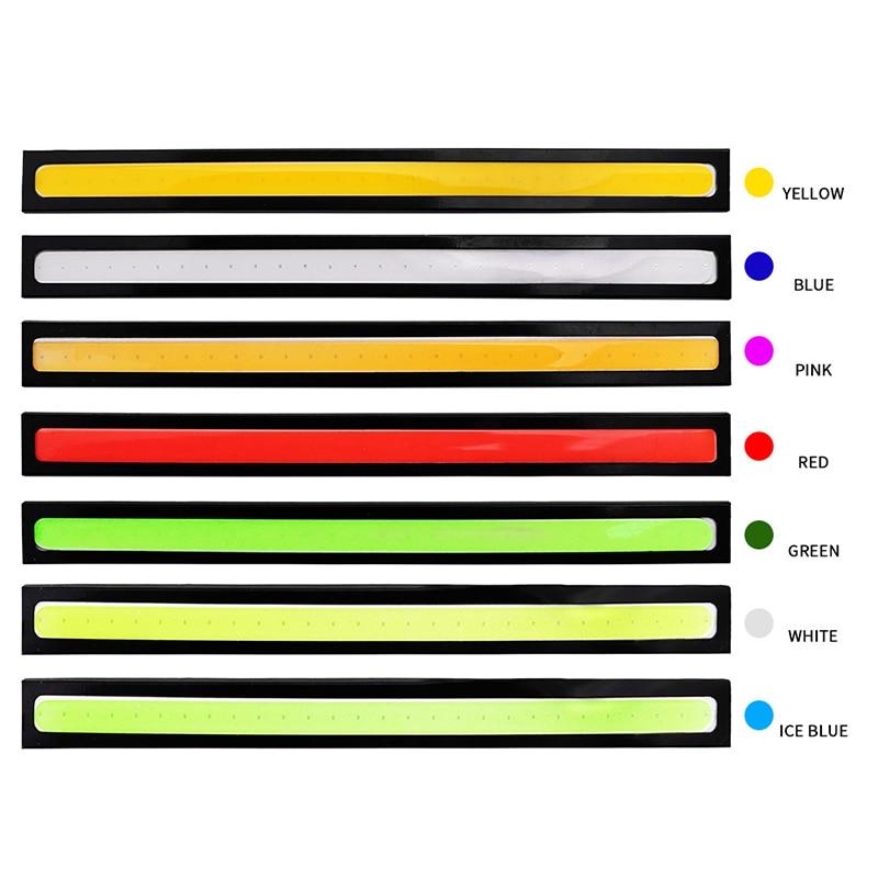 1pcs 17cm Universal Daytime Running Light Car COB DRL LED Strip Light External Lights Auto Waterproof 17cm Universal Daytime Running Light Car COB DRL LED Strip Light External Lights Auto Waterproof Car Styling Led DRL Lamp