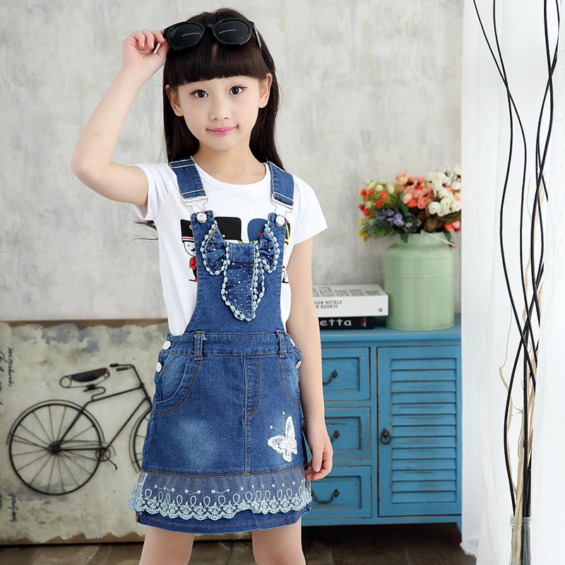 100% Cotton Summer Lace Bottom Denim Overall For Girls Suspenders Overalls With Bow Girls Casual Jeans Denim Strap Belt Overall100% Cotton Summer Lace Bottom Denim Overall For Girls Suspenders Overalls With Bow Girls Casual Jeans Denim Strap Belt Overall