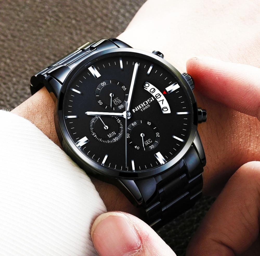 e752baf9cb8 NIBOSI Relogio Relógio masculino Esportes Dos Homens Top Marca de Luxo  Relógios 2019 Marca Lujo Reloj Hombre Homens Casuais Relógio de Pulso em  Relógios de ...