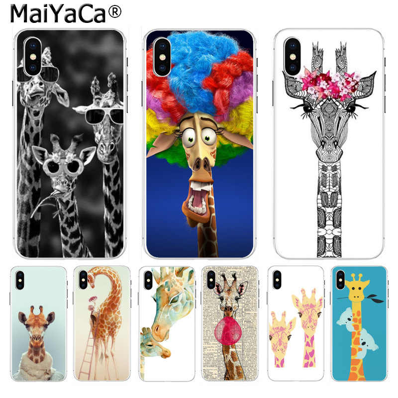 MaiYaCa lovely Giraffe animal Diy Luxury High-end Protector phone cover for iPhone 8 7 6 6S Plus X XS max 10 5 5S SE XR Cover