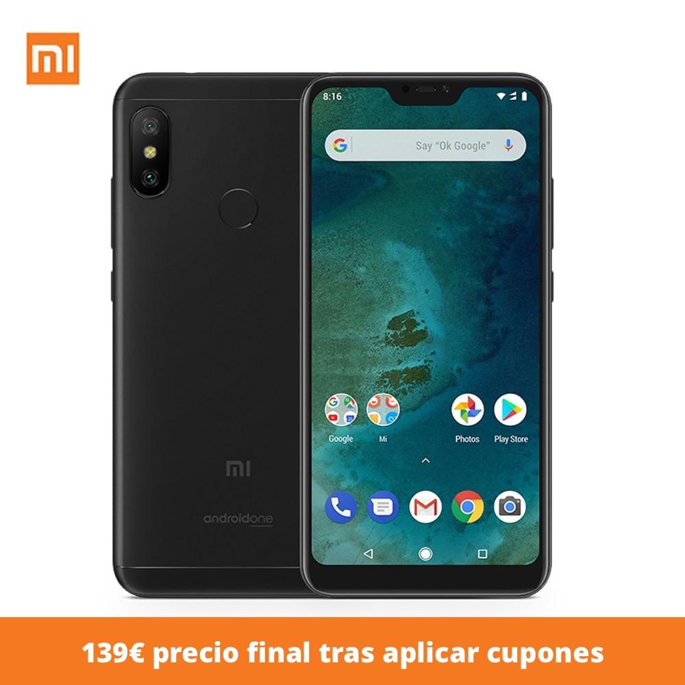 """Smartphone Xiao mi mi A2 lite 5.8 """"(android, 4g, RAM 32 DURO gb, ROM 3 duro GB, Dual SIM Card) Del Telefono Mobile"""