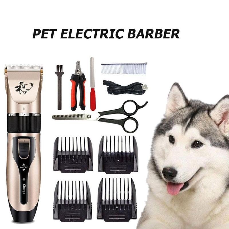 Professional Pet Dog Hair Trimmer Animal Grooming Clippers Low-noise Cat Cutter Machine Shaver Electric Scissor Clipper
