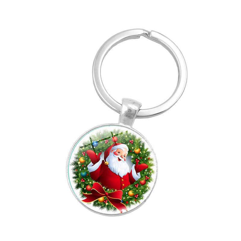 Saitaisery Marca Chaveiro Para As Mulheres Namorada Crianças Melhor Natal de Papai Noel Saco Do Presente Charme Jóias Pingente Anel Chave Chaveiro