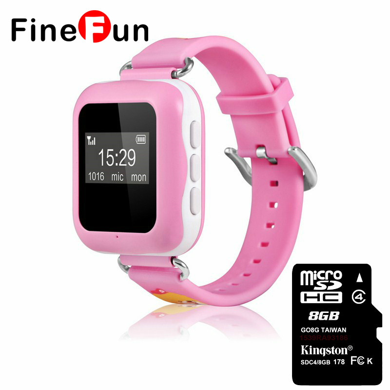 FineFun DDX01 Child Anti-lost Smart Watch Waterproof GPS Support Voice Intercom Remote SIM TF Card Mobile Phone For Android IOS smart baby watch q60s детские часы с gps голубые
