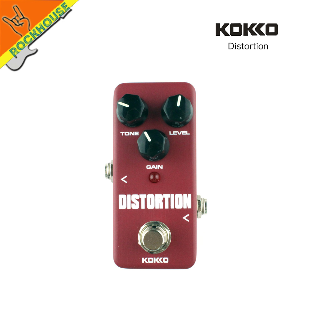 KOKKO Guitar Tube Distortion Effects Pedal Guitarra Distortion Pedal Rock Style Brown Sound True Bypass Free Shipping