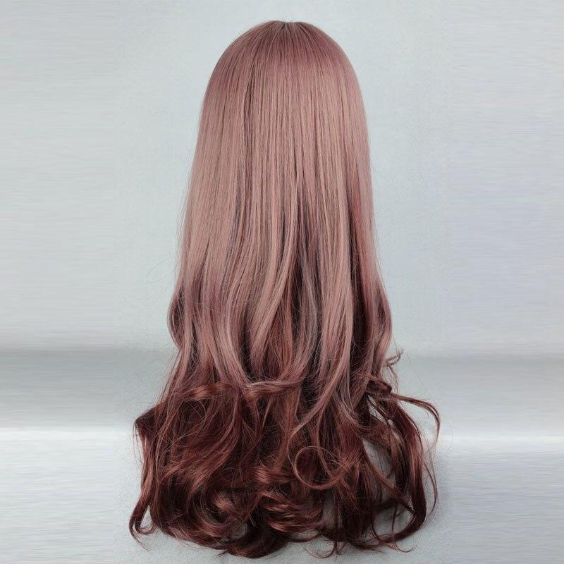 MCOSER 60cm Long Wavy Multi-Color Wig Synthetic Hair Heat Resistant 100% High Temperature Fiber WIG-279A