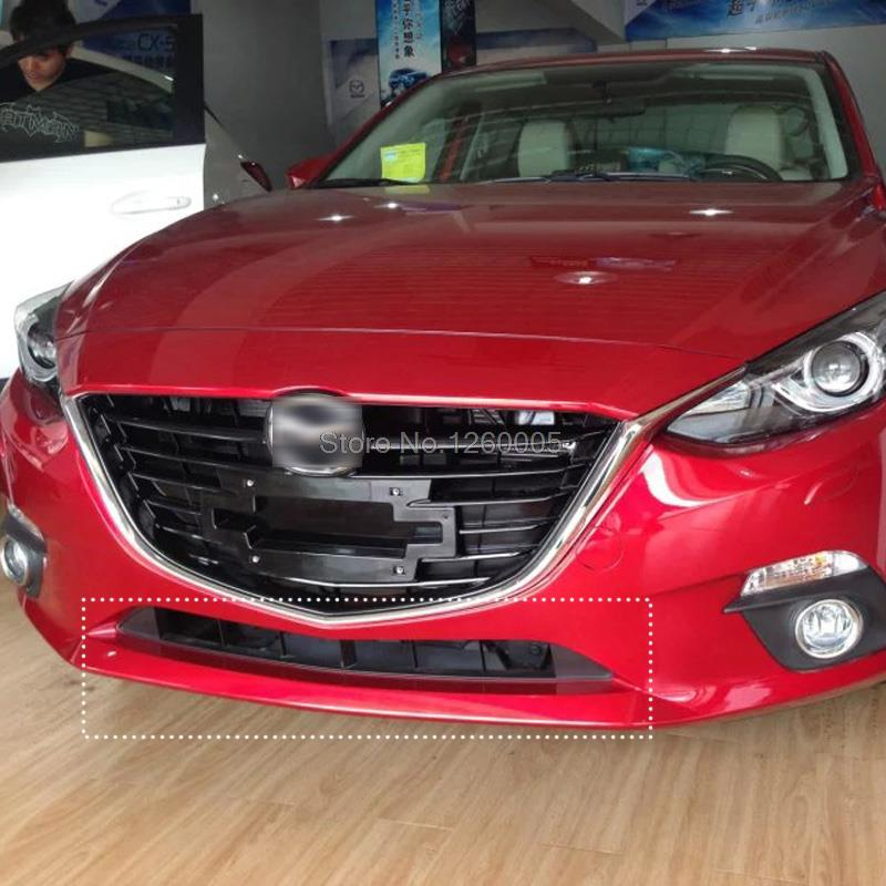 For Mazda 3 Axela 2014 2015 2016 Abs Chromed Front Bottom Center Grille Grill Protective
