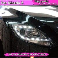 Car Styling For Mazda 6 headlights 2009 2012 Mazda 6 led headlight Head Lamp led drl projector headlight H7 hid Bi Xenon Lens