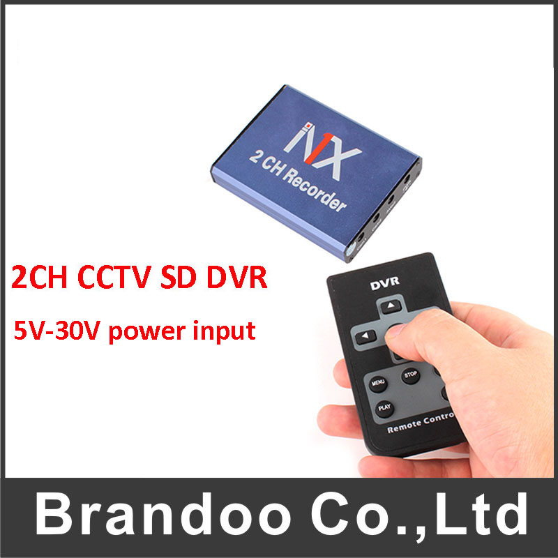 SD Car Mobile DVR 2CH Video/audio Input with Remote Controller