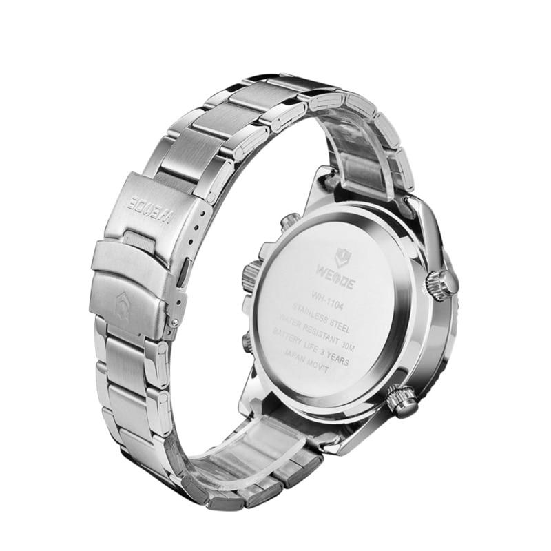 WEIDE Luxury Brand Mänsklocka LED Backlight Klocka Rostfritt Stål - Herrklockor - Foto 5