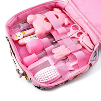 13Pcs/Set Baby Health Care Kit Portable Newborn Baby Grooming Kit Nail Clipper Scissors Hair Brush Comb Safety Care Set