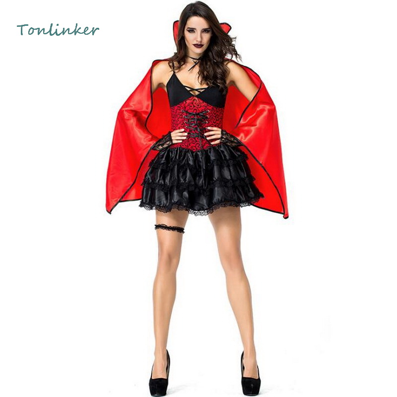 <font><b>Halloween</b></font> <font><b>Sexy</b></font> Dark <font><b>Vampire</b></font> Queen <font><b>Costumes</b></font> Cosplay Women Bat <font><b>Vampire</b></font> Masquerade <font><b>Halloween</b></font> Dress+Cloak <font><b>Costumes</b></font> image