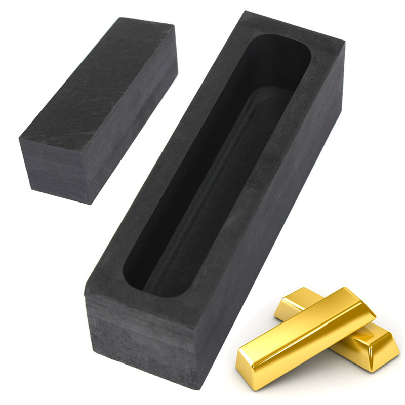 100 x 30 x 30mm 23OZ/650g Graphite Casting Ingot Bar Mold For Gold Silver Copper Melting Refining Scrap Slot Size 90 x 18 x 23mm